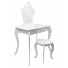 Inlea4Fun Fésülködő asztal gyerekeknek - fehér Előnézet