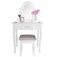 Fésülködő asztal székkel + LED világítással Inlea4Fun SOFIA PHO0052LED