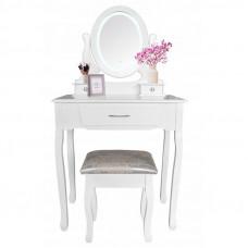 Fésülködő asztal székkel + LED világítással Inlea4Fun SOFIA PHO0052LED Előnézet