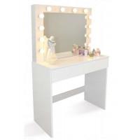 Fésülködő asztal LED világítással Inlea4Fun PHO9452