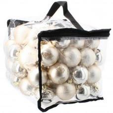Inlea4Fun Karácsonyfa dísz szett 80 darab gömb - Arany/ezüst Előnézet