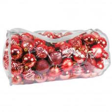 Inlea4Fun Karácsonyi gömbök 100 db - piros Előnézet