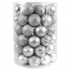 Inlea4Fun Karácsonyi gömbök 60 db - ezüst Előnézet