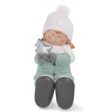 Inlea4Fun csillagot tartó kislány figura - 28cm Előnézet