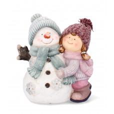 Inlea4Fun Kislány hóemberrel LED világítással 38 cm GOT7029 Előnézet