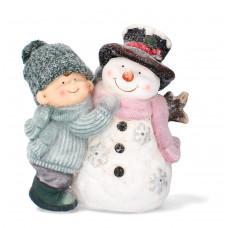 Inlea4Fun Kisfiú hóemberrel LED világítással 38 cm GOT7036 Előnézet