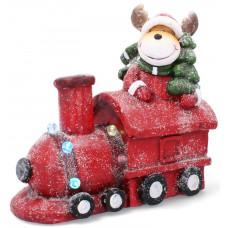 Inlea4Fun rénszarvas vonattal karácsonyi LED figura 38 cm Előnézet