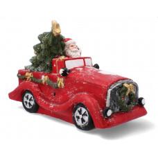 Inlea4Fun Mikulás autóval kerámia karácsonyi figura GOT7197 Előnézet
