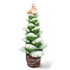 Inlea4Fun fenyőfa madárral karácsonyi LED figura 55cm Előnézet