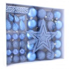 Inlea4Fun Karácsonyfa dísz szett 40 darab - Kék