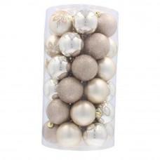 Inlea4Fun Karácsonyfa dísz szett 41 darab gömb - Arany/ezüst Előnézet