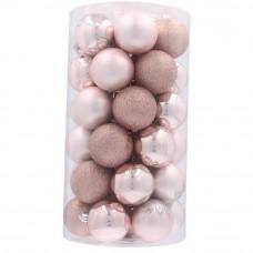 Inlea4Fun Karácsonyfa dísz szett 41 darab gömb - Rózsaszín Előnézet