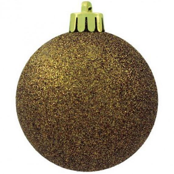 Inlea4Fun Karácsonyi gömbök 100 db 6 cm - Arany
