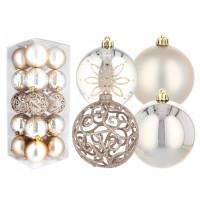Inlea4Fun Karácsonyfa dísz szett 20 darab gömb 8 cm - Arany