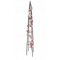 Fém piramis virágfuttató 31 x 31 x 200 cm GARDEN LINE