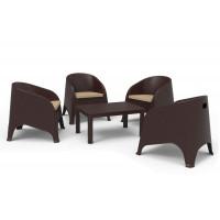 Rattan kerti bútor szett InGarden OLIVIA 8392- Barna