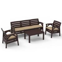 Kerti bútor szett 3 személyes heverővel GARDEN LINE SANTANA 8675 - Barna