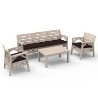 Kerti bútor szett 3 személyes heverővel GARDEN LINE SANTANA 8670 - Cappuccino