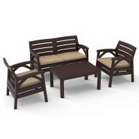 Kerti bútor szett 2 személyes heverővel GARDEN LINE SANTANA 8682 - Barna
