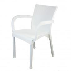 Rattan kerti szék InGarden 60 x 60 x 82 cm - Fehér Előnézet