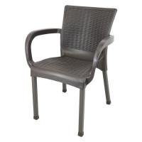 Rattan kerti szék InGarden 60 x 60 x 82 cm - Barna