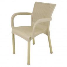 Rattan kerti szék InGarden 60 x 60 x 82 cm - Cappuccino Előnézet