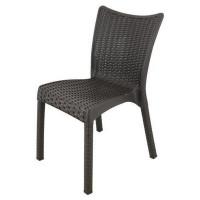 Rattan karfa nélküli kerti szék InGarden 53 x 45 x 81 cm 6635 - Barna