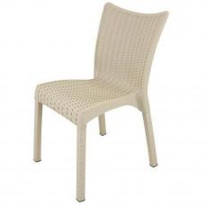 Rattan karfa nélküli kerti szék InGarden 53 x 45 x 81 cm 3938 - Cappuccino Előnézet