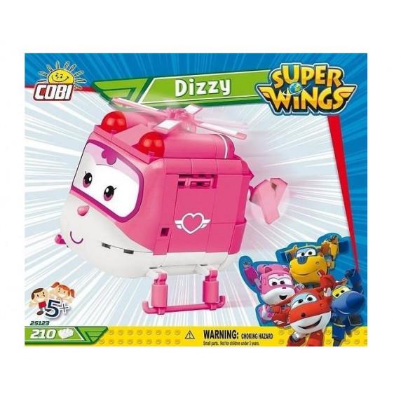 COBI 25123 SUPER WINGS Dizzy rózsaszín mentő helikopter 210 db