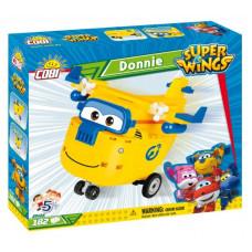 COBI 25124 SUPER WINGS Donnie sárga szerelő repülőgép 182 db  Előnézet
