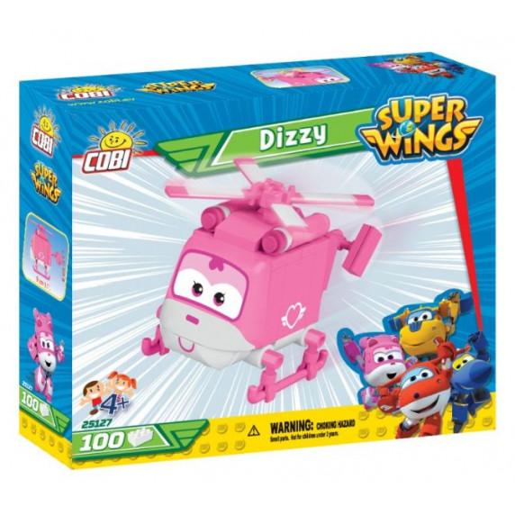 COBI 25127 SUPER WINGS Dizzy mini rózsaszín mentő helikopter 100 db
