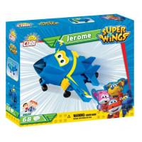 COBI 25129 SUPER WINGS Jerome mini kék vadászrepülő 68 db