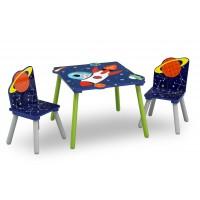 Gyerekasztal székekkel - Világűr