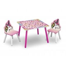 Gyerekasztal székekkel - unikornis Előnézet
