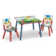 Gyerekasztal székekkel - Erdei állatok Előnézet
