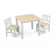 Gyerekasztal székekkel - Natural Előnézet