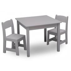 Gyerekasztal székekkel - szürke Előnézet