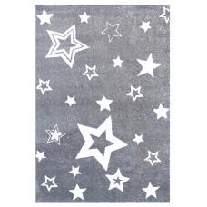 STARLIGHT csillagos szőnyeg 130 x 190 cm - szürke/fehér Előnézet