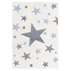 STARS csillagos szőnyeg 100 x 160 cm - krém/kék Előnézet