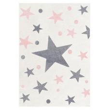 STARS csillagos szőnyeg 120 x 180 cm - krém/rózsaszín Előnézet