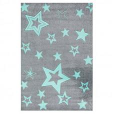 STARLIGHT csillagos szőnyeg 100 x 160 cm - szürke/menta Előnézet