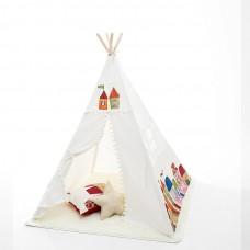 Teepee Happy gyerek sátor - fehér Előnézet