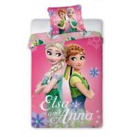Ágyneműhuzat Jégvarázs - Frozen Elza és Anna 140x200 cm