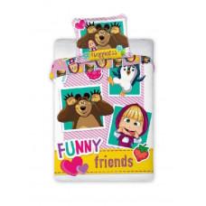 Ágyneműhuzat Mása és a Medve barátok - ovis Előnézet