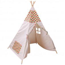 Teepee Happy gyerek sátor - párnával Előnézet