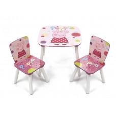 Gyerekasztal székekkel Peppa Malac Előnézet