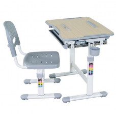 FUN DESK Bambino Gyerek íróasztal székkel - szürke Előnézet
