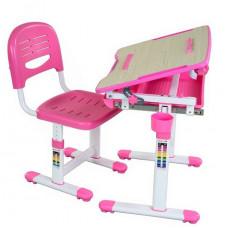 FUN DESK Bambino Gyerek íróasztal székkel - rózsaszín Előnézet