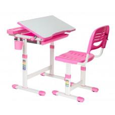 FUN DESK CANTARE Gyerek íróasztal székkel - rózsaszín Előnézet