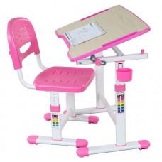 FUN DESK PICCOLINO ll Gyerek íróasztal székkel - rózsaszín Előnézet